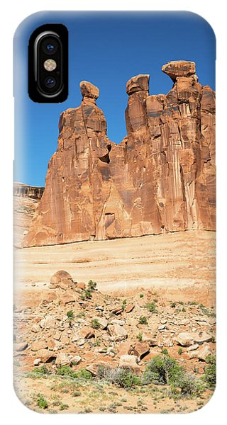 Balanced Rocks In Arches IPhone Case