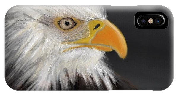 IPhone Case featuring the pastel Bald Eagle by Fe Jones