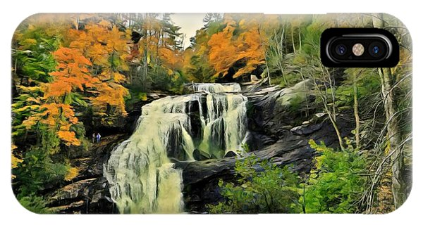 IPhone Case featuring the photograph Bald River Falls In Autumn  by Rachel Hannah