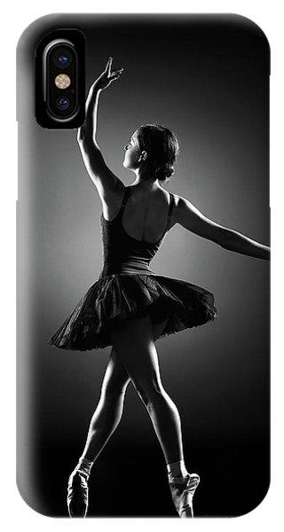 Dancing iPhone Case - Ballerina Dancing by Johan Swanepoel