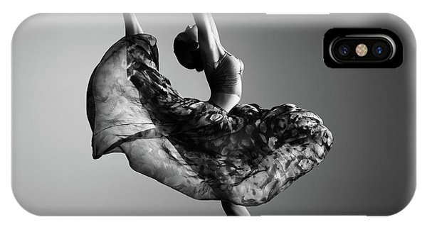 Ballerina iPhone Case - Ballerina Jumping by Johan Swanepoel
