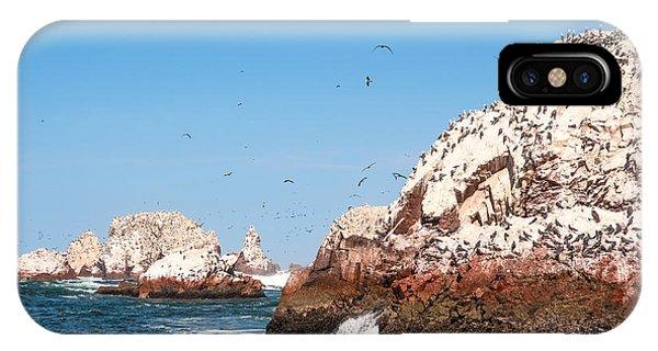 Rock Formation iPhone Case - Ballestas Islands, Paracas National by Ksenia Ragozina