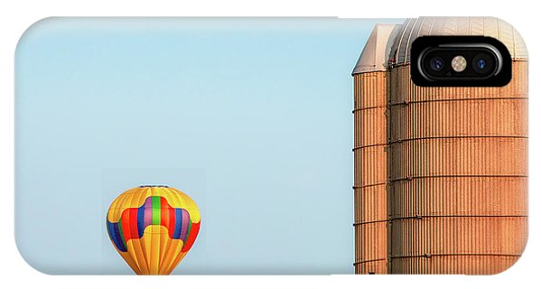 Silo iPhone Case - Balloon And Silo by Todd Klassy