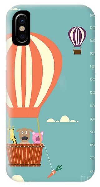 Celebration iPhone Case - Balloon Cartoons ,meter Wall Or Height by Isaree