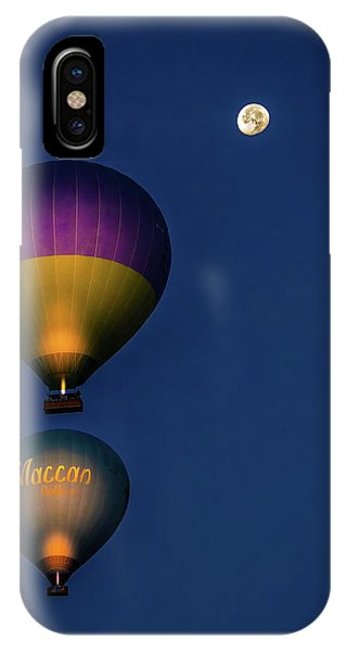 IPhone Case featuring the photograph Balloons And The Moon by Francisco Gomez