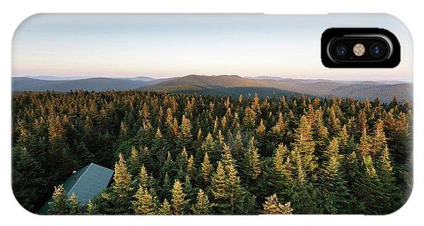 Balsam Lake Mountain Sunset Moon IPhone Case