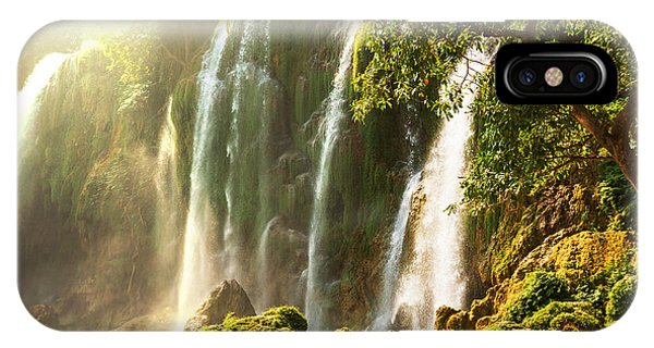River Flow iPhone Case - Ban Gioc - Detian Waterfall In  Vietnam by Galyna Andrushko