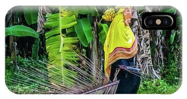 Banana Harvest, Zanzibar, Tanzania IPhone Case