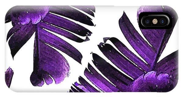 Violet iPhone Case - Banana Leaf - Tropical Leaf Print - Botanical Art - Modern Abstract - Violet, Lavender by Studio Grafiikka