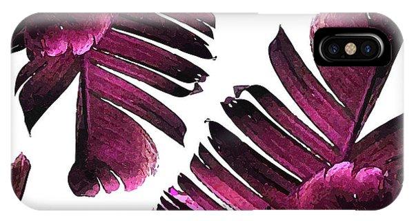 Violet iPhone Case - Banana Leaf - Tropical Leaf Print - Botanical Art - Modern Abstract - Violet, Purple, Magenta, Lilac by Studio Grafiikka