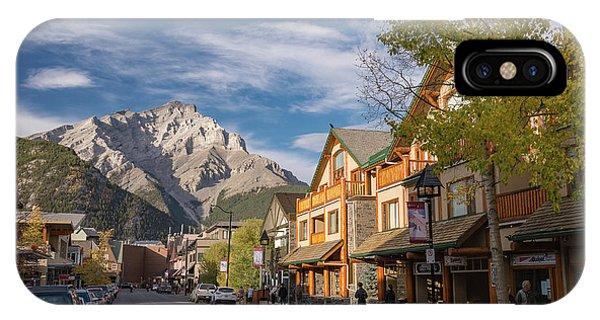 Banff And Cascade Mountai IPhone Case