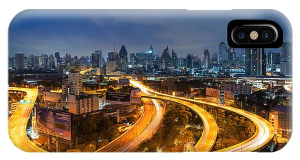 Condo iPhone Case - Bangkok Cityscape. Bangkok Night View by Weerasak Saeku