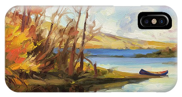 Bush iPhone Case - Banking On The Columbia by Steve Henderson