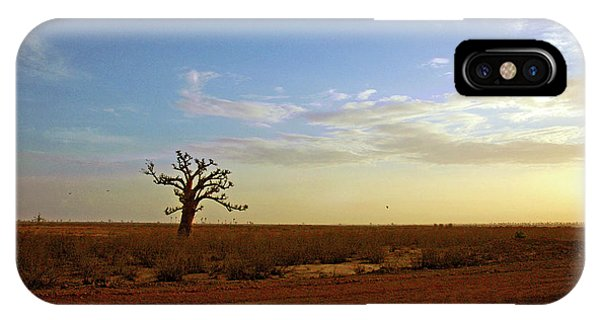 IPhone Case featuring the photograph Baobab Tree At Sunset by Mark Duehmig