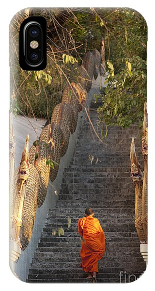 Faith iPhone Case - Barefooted Buddhist Monks In Chiang Mai by 10 Face