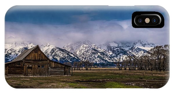 Barn At Mormon Row IPhone Case