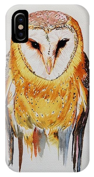 Barn Owl Drip IPhone Case