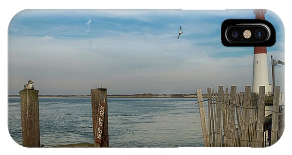 Navigation iPhone Case - Barnegat Lighthouse by Tom Gari Gallery-Three-Photography
