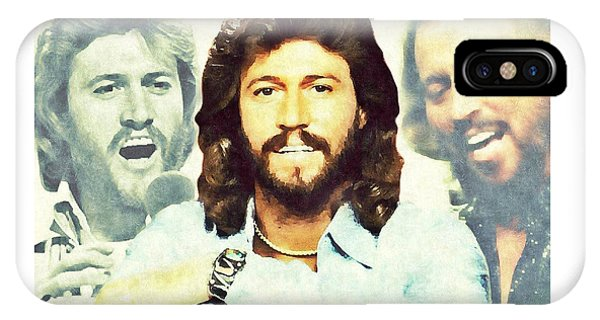 IPhone Case featuring the digital art Barry Gibb by Mark Baranowski