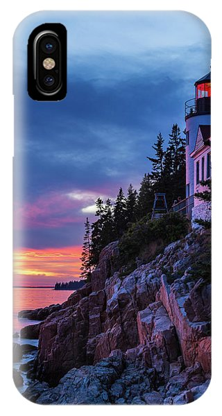 Bass Harbor Head Lighthouse At Twilight IPhone Case