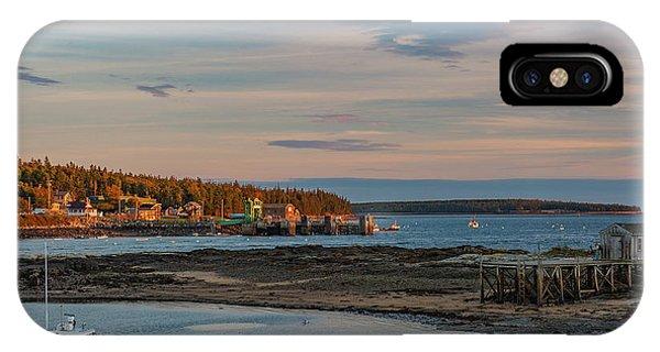 Bass Harbor Sunset IPhone Case