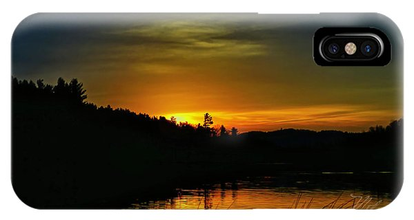 Bass Lake Sunrise Duck IPhone Case