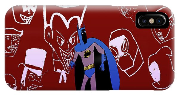 Batman's Rogues' Gallery Phone Case by John Lavernoich