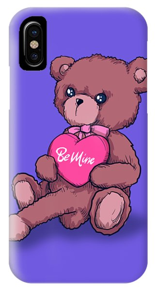 Cupid iPhone Case - Be Mine Bear by Ludwig Van Bacon