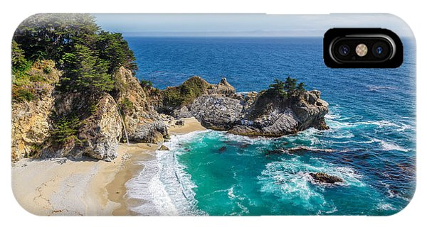 Monterey iPhone Case - Beach And Falls, Julia Pfeiffer Beach by Lucky-photographer