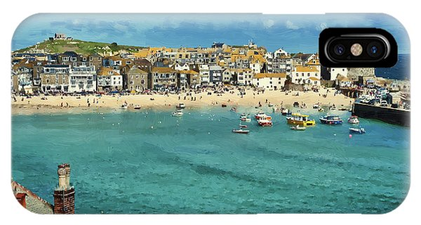 Beach From Across Bay St. Ives, Cornwall, England IPhone Case