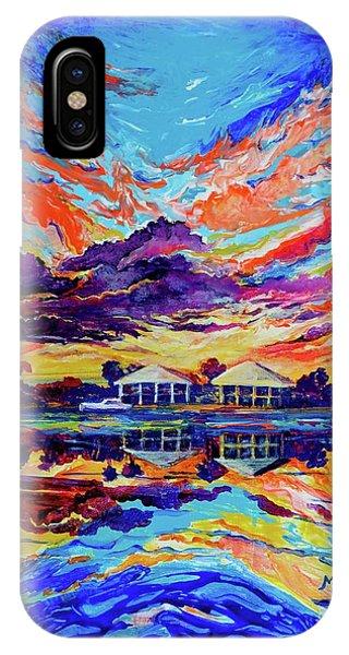 Beach House Reflections Fluid Acrylic IPhone Case