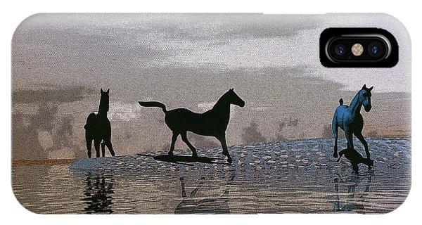 Beach Of Wild Horses IPhone Case