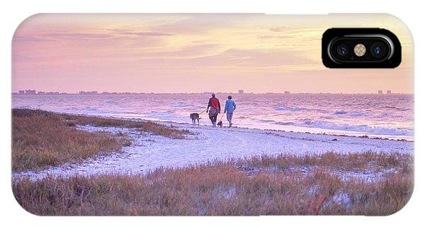 Sunrise Stroll On The Beach IPhone Case