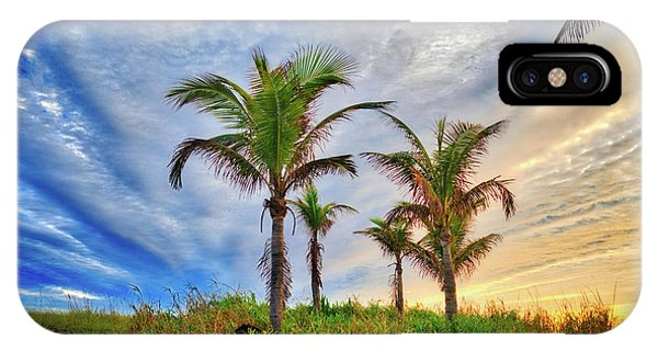 IPhone Case featuring the photograph Beach Sunrise Over The Palms by Lynn Bauer