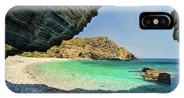 IPhone Case featuring the photograph Almiro Beach With Cave by Milan Ljubisavljevic