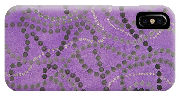 Beads And Pearls - Gray IPhone Case