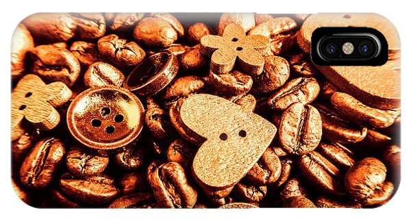 Cafe iPhone Case - Beans And Buttons by Jorgo Photography - Wall Art Gallery