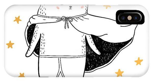 Fairy Tales iPhone Case - Bear Drawing - Funny Vector Children by Lenaer