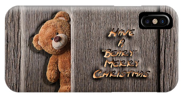 iPhone Case - Beary Merry Christmas by Cynthia Leaphart