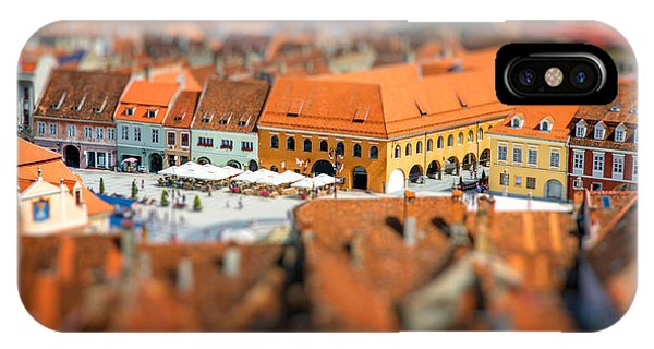 Culture iPhone Case - Beautiful Brasov Cityscape Top View In by Rosshelen