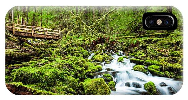 Spring Mountains iPhone Case - Beautiful Cascade Waterfall In Sol Duc by Kan khampanya