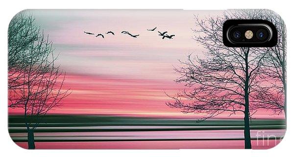 Space iPhone Case - Beautiful Colorful Natural Landscape by Eva Bidiuk