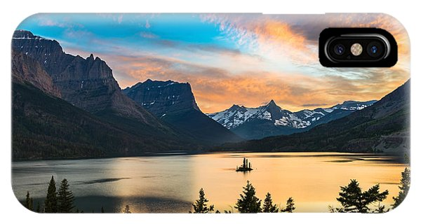 Imposing iPhone Case - Beautiful Colorful Sunset Over St. Mary by Pung