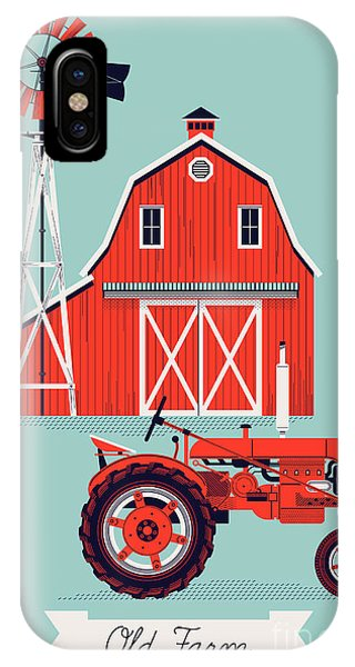 Farmland iPhone Case - Beautiful Detailed Vector Poster Or Web by Mascha Tace