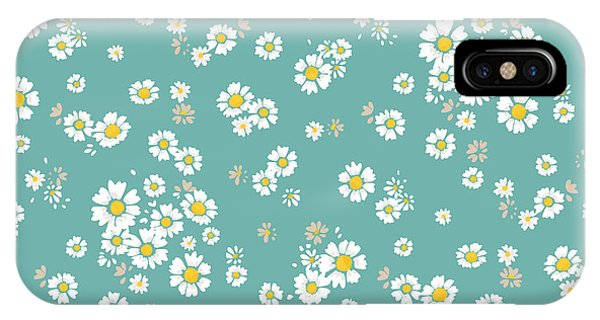 Small iPhone Case - Beautiful Ditsy Floral Seamless by Indipixi