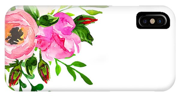 Vector iPhone Case - Beautiful Floral Hand Drawn Watercolor by Vector ann