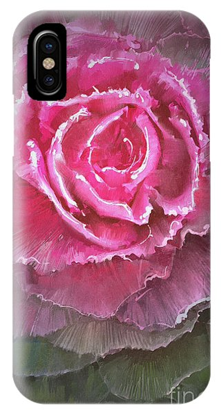 Ornamental iPhone Case - Beautiful Flowering Cabbages,digital by Tithi Luadthong