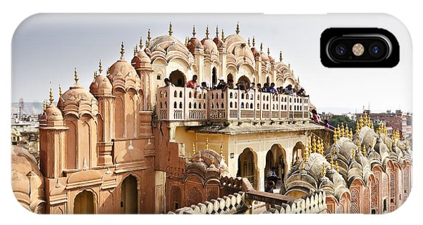 Dome iPhone Case - Beautiful Hawa Mahal At Jaipur by Tusharkoley