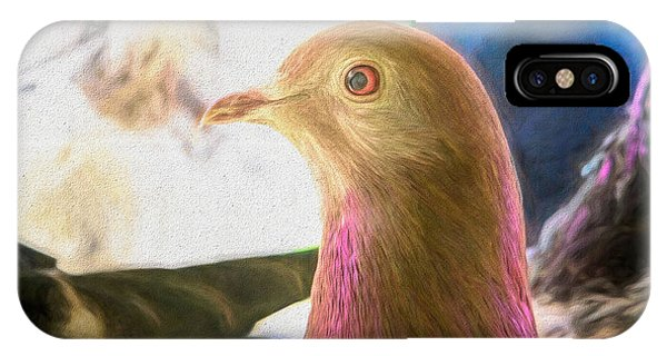 IPhone Case featuring the photograph Beautiful Homing Pigeon Painted by Don Northup