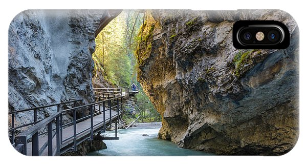 Banff iPhone Case - Beautiful Johnston Canyon Walkway With by Chase Clausen